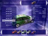Xpand Rally Windows Car selection screen: there are different classes to choose from