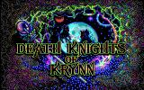 Death Knights of Krynn DOS Title Screen