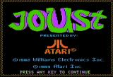 Joust Apple II Title Screen