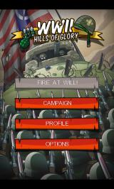 Hills of Glory: WWII Android Main menu