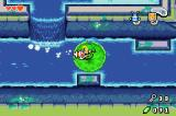 The Legend of Zelda: The Minish Cap Game Boy Advance In the first dungeon. The Gust Jar usually sucks in things or enemies, but here it is used to navigate the leaf through the water.