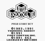 Boxxle II Game Boy Title screen