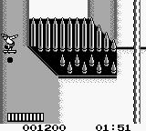 Skate or Die: Bad 'N Rad Game Boy The second stage is viewed from a top-down perspectiv. Watch out for the spikes!
