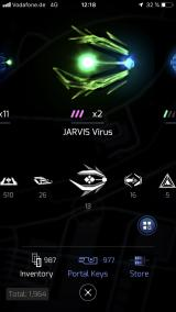 Ingress Prime iPhone Inventory screen