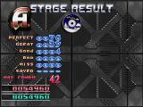 Dance Dance Revolution: 3rd Mix PlayStation After clearing the stage, here's the results, not bad for a beginner.
