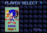 SegaSonic The Hedgehog Arcade Player selection
