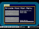 Arcade Pool Amiga Main Menu