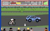 Milk Race Commodore 64 Don't get hit by cars!