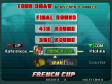 Virtua Tennis Arcade Completing the match leads us to the next one.