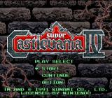 Super Castlevania IV SNES Title screen