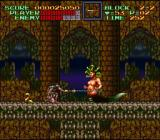 Super Castlevania IV SNES Medusa as mid-boss