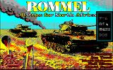Rommel: Battles for North Africa PC-98 Title screen and main menu