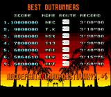 OutRun TurboGrafx-16 Best Outrunners
