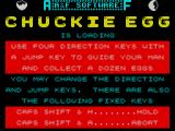 Chuckie Egg ZX Spectrum Loading screen