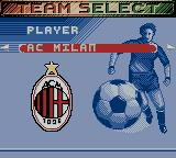 European Super League Game Boy Color Team Selection