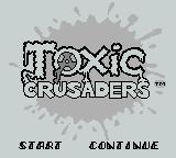 Toxic Crusaders Game Boy Title Screen
