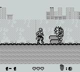 Toxic Crusaders Game Boy Shoot the bad guy.