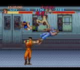 Final Fight SNES [Final Fight Guy] Action in the subway