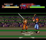 Final Fight SNES [Final Fight Guy] After disarming the samurai, you can attack him with his own sword.