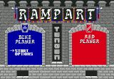 Rampart Genesis Main menu