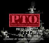 P.T.O.: Pacific Theater of Operations Genesis Title screen