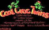 The Cool Croc Twins DOS Title screen (CGA)