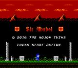 Sir Ababol: Remastered Edition NES Title screen