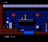 Sir Ababol: Remastered Edition NES Killing an enemy to grab the key it was guarding.