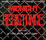 Midnight Resistance Genesis Title screen