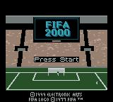 FIFA 2000 Game Boy Color Title Screen