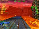 Millennium Racer: Y2K Fighters Windows Falling through the holes will slow you down.