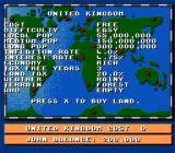 Theme Park SNES Read statistics on a country before setting up a park there