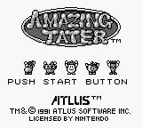 Amazing Tater Game Boy Title screen