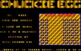 Chuckie Egg Amiga Title screen and High Scores