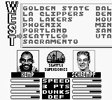 NBA Jam Game Boy Choose a team