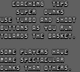 NBA Jam Game Boy Some advice from the coach