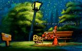 Discworld DOS Rincewind sees himself in the park a few nights before.