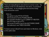 Lenny's Music Toons Windows 3.x Instructions on what to do in the game.