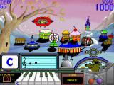 Lenny's Music Toons Windows 3.x After targeting the creature (red) hit the corresponding key on the piano (c)
