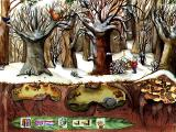Oscar the Balloonist and the Secrets of the Forest Windows The forest during winter