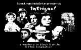 Intrigue! Commodore 64 Title screen