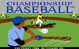 Championship Baseball Commodore 64 Title screen