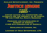 Justice League Task Force Genesis First title screen