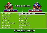 John Madden Football '92 Genesis Main menu
