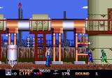 Rolling Thunder 3 Genesis The blue crosshair on the screen is the hidden sniper, I've been too slow.