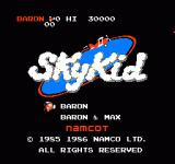 Sky Kid NES Title screen