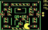 Super Pac-Man DOS Eat keys to unlock parts of the maze (CGA)