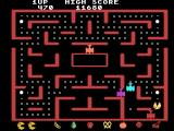 Ms. Pac-Man TI-99/4A Quick, eat the power pellet before being caught by the red ghost!