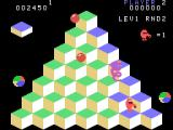Q*bert TI-99/4A Watch out for the snake!