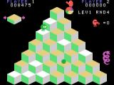 Q*bert TI-99/4A Riding a disc to safety